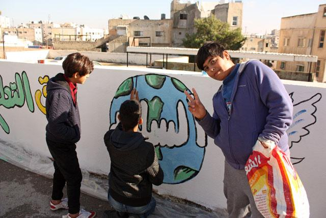 Young Artists Create Murals in Jabal Nuzha for Human Rights Day